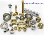 Brass Oil Level Gauges in male NPT,BSP,G thread1/8,1/4,3/8,1/23/4,1,with quartz glass tube