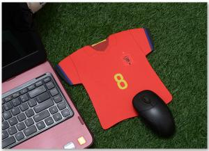China Custom Jersey Shape Soccer Team Marketing Promotional Gifts Mouse Pad Digital Printed For Computer on sale