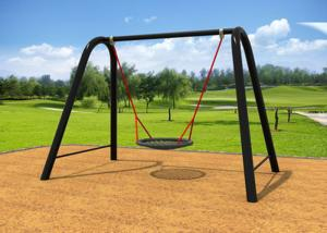 China Arched Shape Kids Single Swing Set , Metal Swing Sets For Small Yard KP-G001 on sale