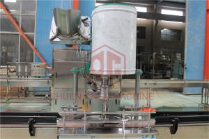 China Semi Automatic Plastic Bottle Filling Machine With Solenoid Control on sale
