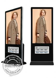 China Windows 10 LCD Touch Screen Kiosk 55 Inch Wireless IPhone Mobile Phone Charging Station on sale