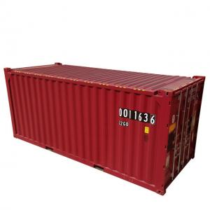 China DNV Certificate 39.90CBM 20ft Container Red color Corten-A Material New Condition on sale