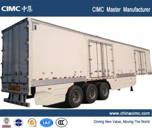 China CIMC tri-axle 45tons dry van semi trailer on sale