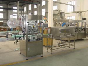 China Low Noise Bottle Labeling Machine Shrink Sleeve Applicator Machine supplier