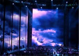 China SMD5050 IP68 imperméabilisent l'affichage à LED De rideau en P37.5mm pour le concert de musique on sale