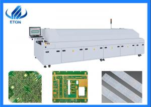 China Large 6 Zone Hot Air Double Rail Solder Reflow Oven Durable With PC Control on sale