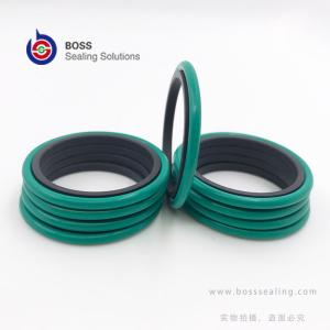 China Hydraulic rod shaft glyd ring double acting PTFE bronze rubber o ring compact seal brown green balck on sale