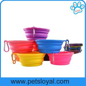China Manufacturer Silicone Pet Feeder Collapsible Travel Pet Dog Bowl on sale