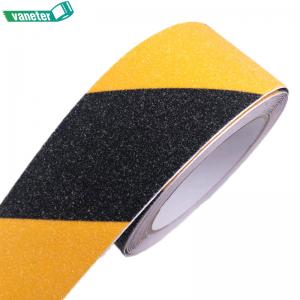 China Various sizes yellow black abrasive adhesive anti slip tape stair treads non skid tape waterproof on sale