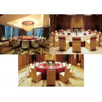 Comfortable Roun Drestaurant Dining Tables , Hotel Commercial Restaurant Seating