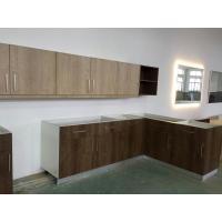 China Wood grain MFC kitchen cabinet,Modern kitchen furniture,Kitchen design,L-shape cupboard on sale