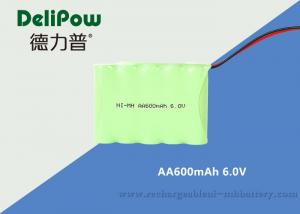 China IEC Standard 600mAh NIMH Rechargeable Battery Pack 6.0V For LED Lighting on sale