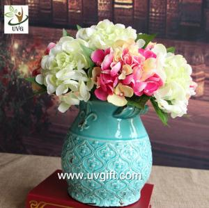 China UVG FHY24 wedding decoration materials cheap artificial hydrangea flower for indoor use on sale