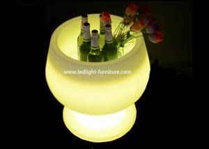 China Goblet Cup Shaped LED Ice Bucket / Light Up Wine Bucket For Bottle Holder on sale