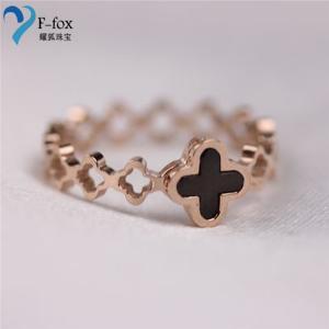 China Rose Gold Titanium steel new styles Design unique Rings on sale