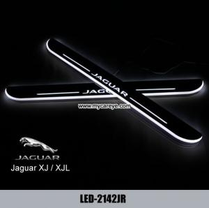 Quality Jaguar Xj Led Door Scuff Sill Plate Side Step Pedal Lights For