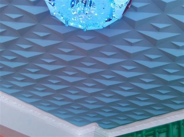 Ceiling 3d wall art pvc wall panels embossed wall decals for Panneau mural pvc