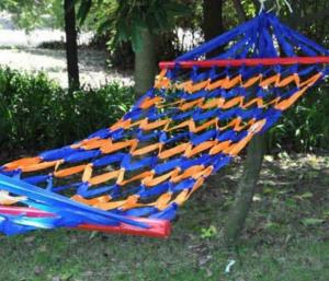 China Ultralight outdoor colorful canvas hammock baby cotton sleeping hammock for outdoor / Garden / Travel on sale