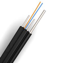 China Fiber To The Home Aerial Drop Cable Fire Resistant GJXFH With Black Color on sale
