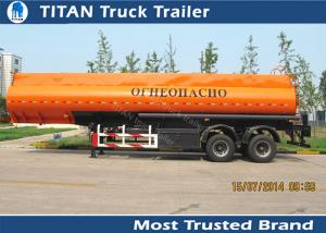 China Diesel fuel gasoline tank trailer with 30000 liters - 42000 liters capacity on sale