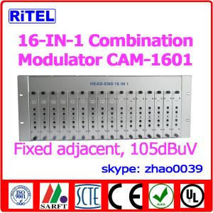 China 16-in-1 Fixed Adjacent Modulator CAM1601 for hotel/community/campus/coference on sale