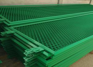 China Dust Proof Green Aluminum Expanded Metal Mesh For Building Doors / Windows on sale