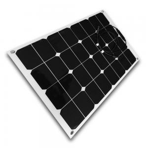 China 50W 12V Semi Flexible Solar Panels Caravan Use With Cable And MC4 Connector on sale