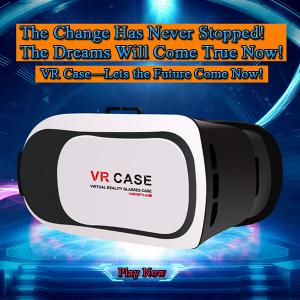 China Hot Selling Virtual Reality VR Headset IMAX 3D Video Glasses Google Cardboard Plastic Version Manufacturer on sale