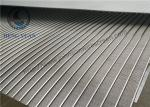 Various Shapes Wedge Wire Screen Panels With ISO9000 Certificate Wear Resisting