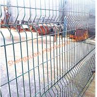 China PVC Coated Welded Wire Mesh Fence,3 bends wire mesh fence with post on sale on sale