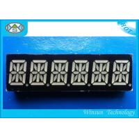 China RBGYW Color 0.39 Inch 6 Digit 7 Segment Display For Message Board , 49X15X8 Mm on sale