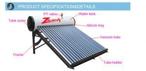 China High quality Solar Water Heater Calentador de agua solar for Europe Mexico Africa Market on sale