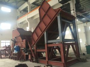 China Low Noise Automatic Scrap Steel Shredder Line Machine / Metal Crusher on sale