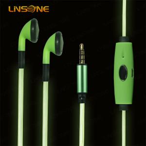 China 3.5mm led light wire earphone for phone on sale