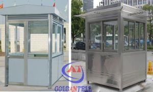 China Steel Structure Portable Security Guard Room A Light In The Middle on sale