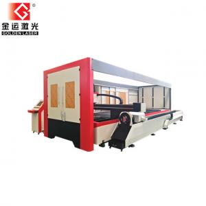 China 2500w Enclosed Pallet Table Fiber Laser Sheet And Tube Cutting Machine Price GF-1530JHT on sale