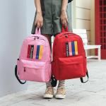 European and American style backpack male large capacity student bag for lovers campus trip popular logo backpack
