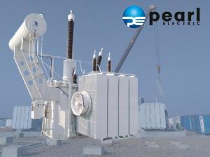 China 132kV Power Distribution Transformer With Steel Plate , Aluminum Alloy Enclosure on sale