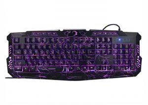 China K701 Gaming Computer Keyboard With Light Up Keys Over 10 Million Times Button Life on sale