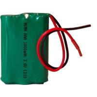 Rechargeable NiMH AAA 3.6V 1000mAh Battery Pack with Green PVC and Leading Wires