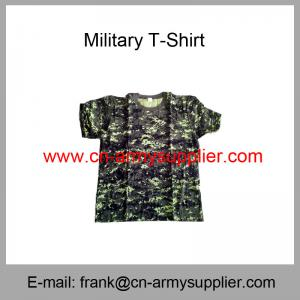 China Wholesale Cheap China Military Camouflage Cotton Round Collar Army T-Shirt on sale
