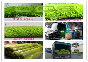 China Light Green Artificial Grass Football Carpet with PP + NET + SBR GLUE Backing on sale