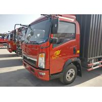 China Sinotruk HOWO  Light Duty Trucks , 3360 Wheelbase 18 Feet Box Truck on sale