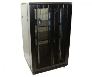 China Communications / Network Equipment Rack On Wheels 19 Inch Size Black Color on sale