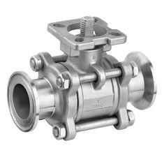China Full Port Stainless Steel Ball Valve With Clamp Ends 1000WOG Floating Ball on sale
