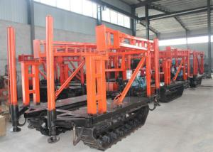 China Hydraulic water well drilling rig machine , Track mounted borehole drilling rig on sale