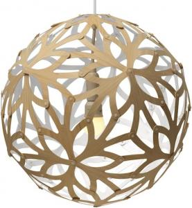 China Floral Natural Wood Pendant Light Globe Suspension Lamp Ball E27 Light Source on sale