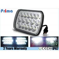 7 X 6 Inch LED Jeep Headlight High Low Sealed Beam H 3600 L 1600 Lumen