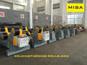 China 40T Self-aligning Pipe Welding Rotator With Polyurethane Wheels Single Motor Driven on sale
