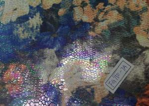 China Elastic Printed Suede Leather Fabric Abrasion Resistant For Furniture on sale
